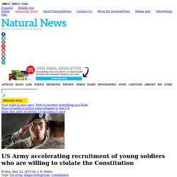 US Army accelerating recruitment of young soldiers who are willing to violate the Constitution