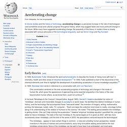 L'accélération du changement - Wikipédia (Anglais)