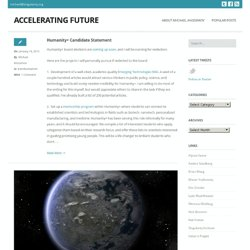 Accelerating Future