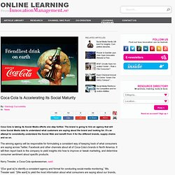 Coca Cola Is Accelerating Its Social Maturity | InnovationManagement