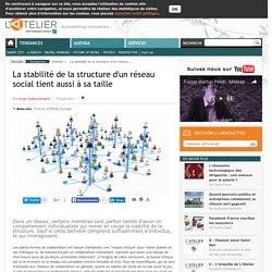 La stabilité de la structure d'un réseau social tient aussi à sa taille