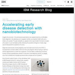 Accelerating early disease detection with nanobiotechnology - IBM Blog Research