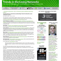 Is the trend to openness accelerating? Social networks as an inflection point