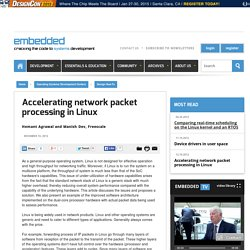 Accelerating network packet processing in Linux
