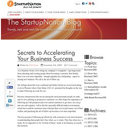 StartupNation Blog » Blog Archive » Secrets to Accelerating Y