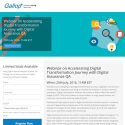 Webinar on Accelerating Digital Transformation Journey with Digital Assurance QA
