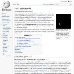 Tidal acceleration