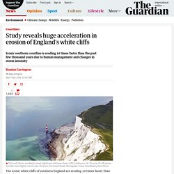 CC and TGS cause huge acceleration in erosion of England's white cliffs