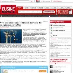 Vers une nécessaire accélération de l'essor des énergies renouvelables