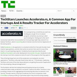 TechStars Launches Accelerato.rs, A Common App For Startups And A Results Tracker For Accelerators