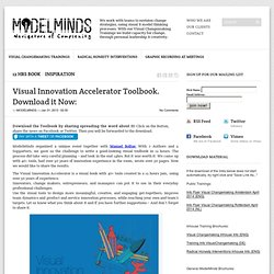 Visual Innovation Accelerator Toolbook. Download it Now: