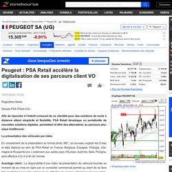 Peugeot : PSA Retail accélère la digitalisation de ses parcours client VO