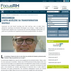 L'Afpa accélère sa transformation digitale - E-learning & MOOc - Focus RH