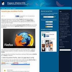 Accélérer Firefox