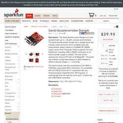 Serial Accelerometer Dongle - SEN-10537
