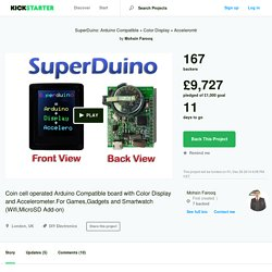 SuperDuino: Arduino Compatible + Color Display + Acceleromtr by Mohsin Farooq