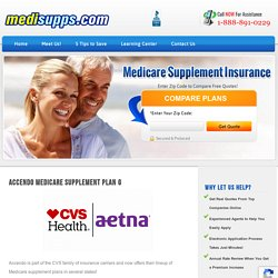 Accendo Medicare Supplement Plan G - The Top Plan