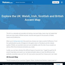 UK Accent Map - Listen To Voices Across The UK