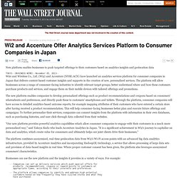 Wi2 and Accenture Offer Analytics Services Platform to Consumer Companies in Japan