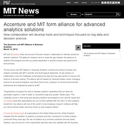 Accenture and MIT form alliance for advanced analytics solutions
