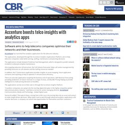 Accenture boosts telco insights with analytics apps