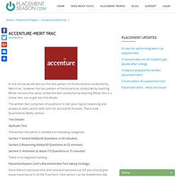 Buy Online Accenture Placement & Aptitude Papers - Placement Season