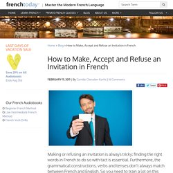 How to Make, Accept and Refuse an Invitation in French