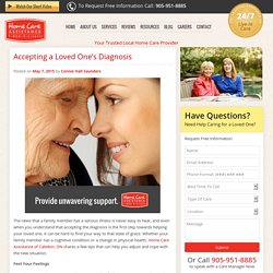 How to Accept a Senior Loved One's Diagnosis