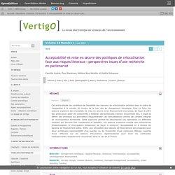Acceptabilité et mise en œuvre des politiques de relocalisation face aux risques littoraux : perspectives issues d'une recherche en partenariat