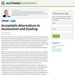 Acceptable Alternatives in Assessment and Grading