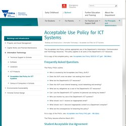 Acceptable Use Policy for ICT Systems
