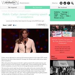 Watch: Caitlyn Jenner's inspiring speech on acceptance