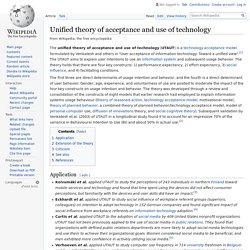 Unified theory of acceptance and use of technology - Wikipedia