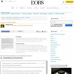 Adhésion : Acceptation d'adhésion (Association) - Adhésion - ABC-Lettres par l'Obs