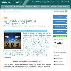 La Thérapie d'Acceptation et d'Engagement : ACT - Vandenbosch David