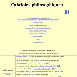 Cabrioles philosophiques
