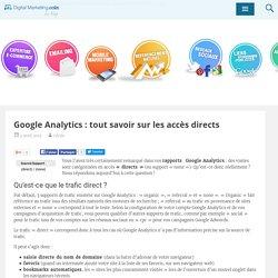 Qu'est-ce que l'accès directGoogle Analytics ?