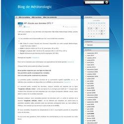 API d'accès aux données GFS 1° - Blog de Météorologic