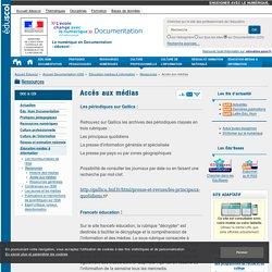 Accès médias — Documentation (CDI)