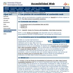 Accesibilidad Web: Las pautas de accesiblidad al contenido web