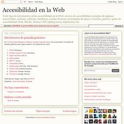 Accesibilidad en la Web: Diez lectores de pantalla gratuitos