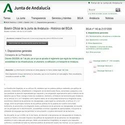 Decreto gestión espacios. (BOJA)