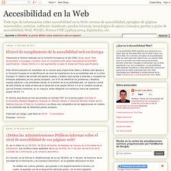 Accesibilidad en la Web: mayo 2013