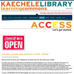 ACCESS - KESLibraryLearningCommons