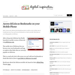 Access del.icio.us Bookmarks on your Mobile Phone