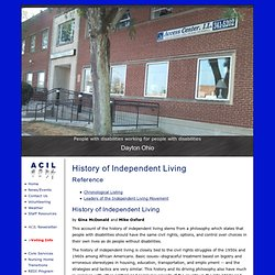 Access Center for Independent Living: Ilhist