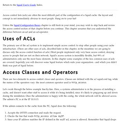 Access Control and Access Control Operators - Squid User's Guide