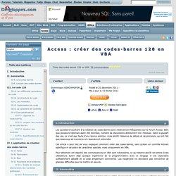 Access : créer des codes-barres 128 en VBA