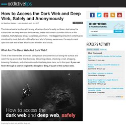 How to Access the Dark Web and the Deep Web, Safely and Anonymous