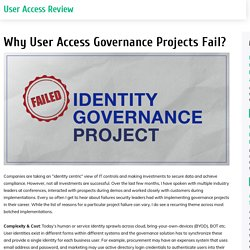 Why User Access Governance Projects Fail?